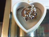 Antique Lady's Moon Stars Galaxy Silver Peridot Ameth Ring 925 Silver 7g Size:7